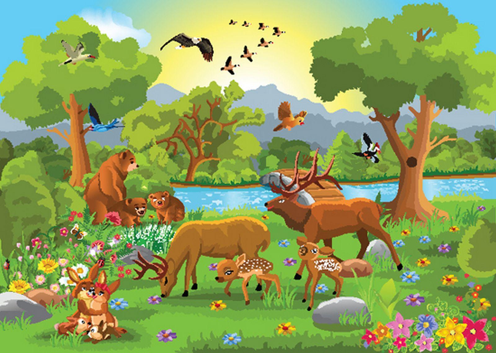 Лесные картинки для детей