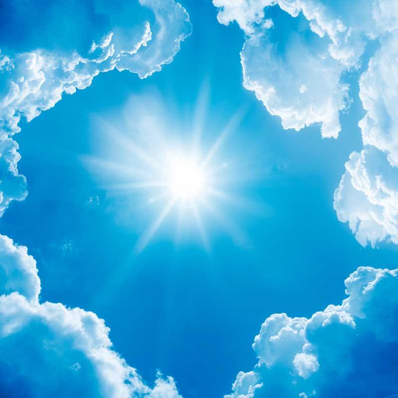Солнышко яркое небо голубое картинки